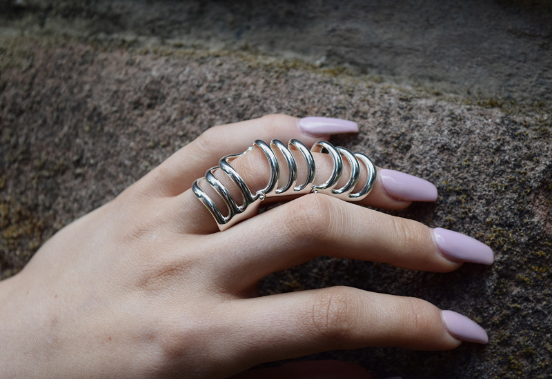 New armour ring surfaces in Waterfall collection for Lucy Quartermaine