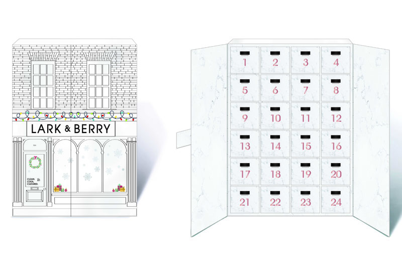 Lark & Berry Advent Calendar Box both