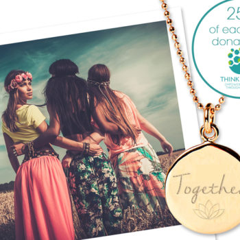 Mantra Together Necklace, with 25% to Think Equal_polaroid