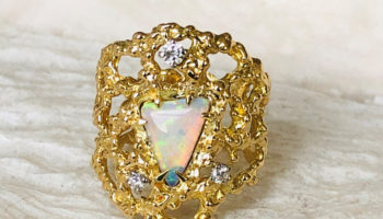Baroque Rocks 1977 18k Gold Opal Cocktail Ring, sold at The Jewellery Cut Shop 2