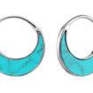 Tidal Turquoise Crescent Earrings
