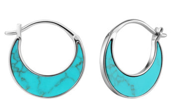 Tidal Turquoise Crescent Earrings