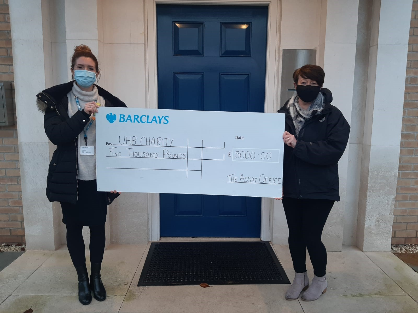 L-R Charlotte Schofield, Director of Fundraisin g at UHB Charity and Marie Brennan of Birmingham Assay Office