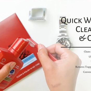Quick watch cleanser and cloth
