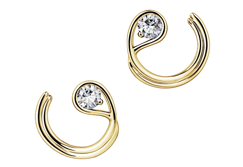 Single Left Pandora Brilliance Stud Earring in Gold with 0.25 carat, £390. 259454C01. (1)