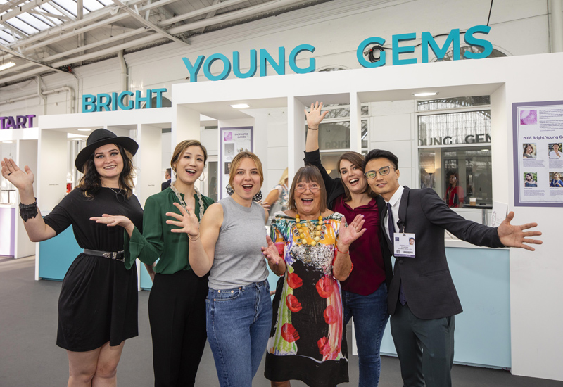 Hilary Alexander and Alice Edwards with 2018 BYGs